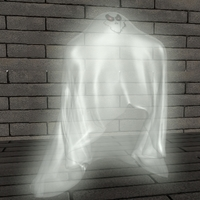 Cartoon Ghost RIGGED 3D Model