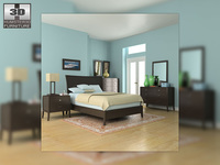 Bedroom set 3 3D Model