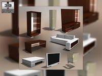 Living Room 2 3D Model