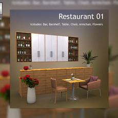 Restaurant 01 3D Model