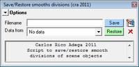 Free craSaveSmooths for Maya 1.0.0 (maya script)