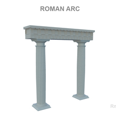 Roman Arc 3D Model