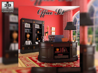 Office Set 19 3D Model