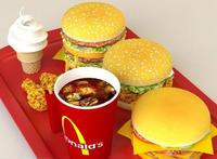 mcdonald's meal 3D Model