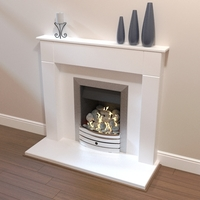 Contemporary fireplace 3D Model