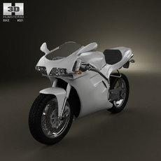 Ducati 748 Sport Bike 3D Model