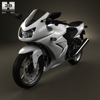 Kawasaki Ninja 250R Sport Bike 3D Model