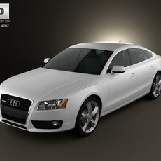 Audi A5 Sportback 2010 3D Model