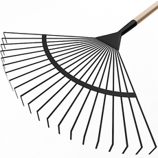 Garden Fan Rake 3D Model