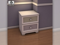 Ashley Sandhill Nightstand 3D Model