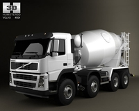 Volvo Truck 8x4 Mixer 3D Model