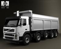 Volvo Truck 10x4 Dumper 3D Model