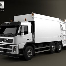 Volvo Truck 6x2 Garbage 3D Model