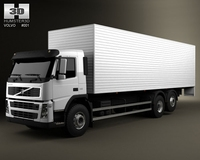 Volvo Truck 6x2 Delivery 3D Model