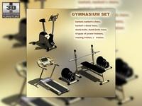 Gymnasium set 3D Model