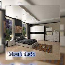 Bedroom furniture 4 Set 3D Model