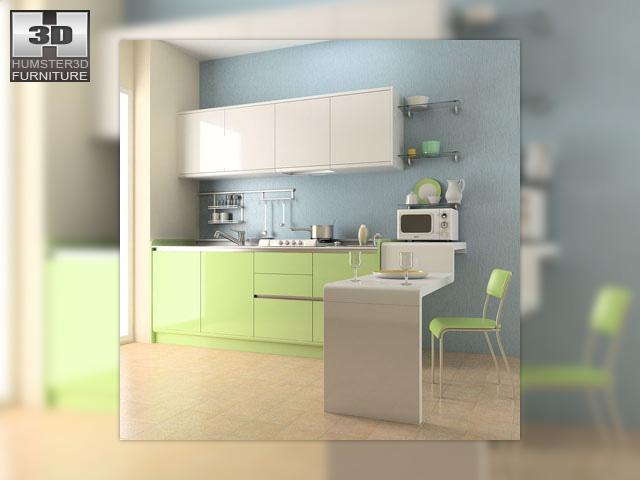 Kitchen set 03 3d model for Kitchen set 3d warehouse