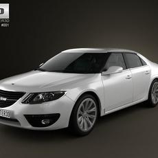 Saab 9-5 2010 3D Model