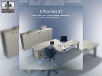Office set 21 3D Model
