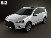 Mitsubishi Outlander GT 2010 3D Model