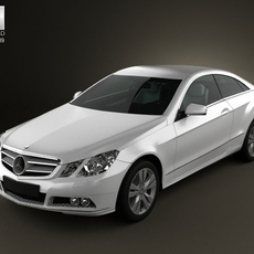Mercedes-Benz E coupe 2011 3D Model