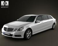 Mercedes Binz E-class Limousine 2010 3D Model