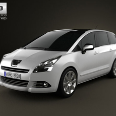 Peugeot 5008 2010 3D Model