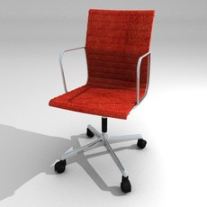Aluminium armchair with wheels 3D Model