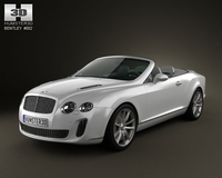 Bentley Continental Supersports convertible 3D Model