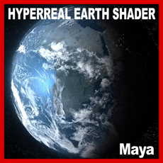 Hyperreal Dynamic Earth Shader Model 3D Model