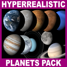 Hyperreal Solar System Pack - 3ds max 3D Model