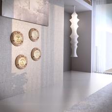 Ottone con Legno Porthole 3D Model