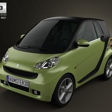 Smart ForTwo 2011 3D Model