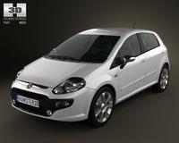 Fiat Punto Evo 5door 2010 3D Model