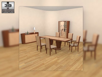 Dining Room 2 Set 3D Model