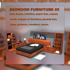 Bedroom furniture 05 3D Model