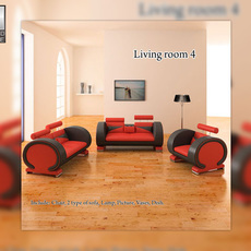 Living Room 4 Set 3D Model