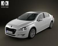 Peugeot 508 saloon 2011 3D Model