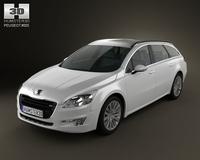 Peugeot 508 SW 2011 3D Model