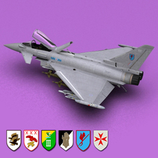 RAF Eurofighter Typhoon 3D Model