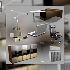 Office set 23 3D Model