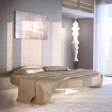 Custom Round bed 3D Model