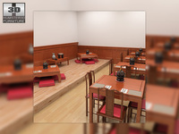 Chinese Restaurant interior 3D Model