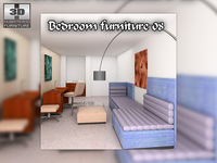 Bedroom Furniture 08 Sets 3D Model
