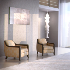 Davenport armchair 3D Model
