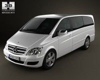 Mercedes-Benz Viano Extralong 3D Model