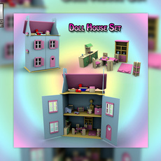 Doll House Set 01 Toys 3D Model