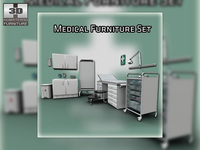 Medical furnitures collection 3D Model