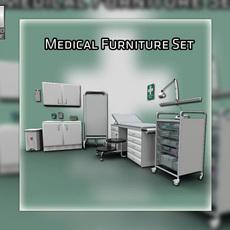 Medical furnitures collection 3D Model