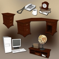 Home WorkPlace 3 Sets 3D Model